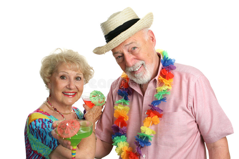 Vacation Couple With Cocktails Royalty Free Stock Image