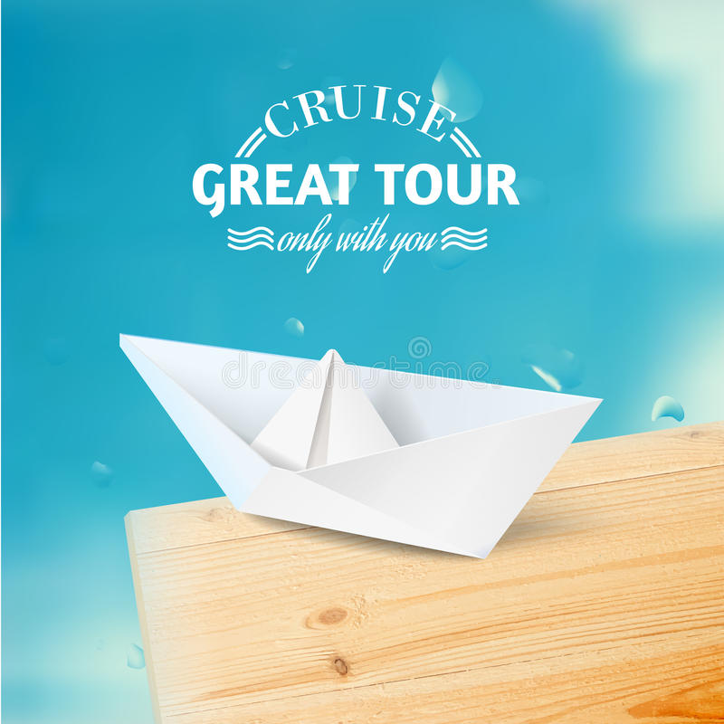 Download Vacation Cruise Illustration With Ship And Text Stock Vector - Image: 38176552