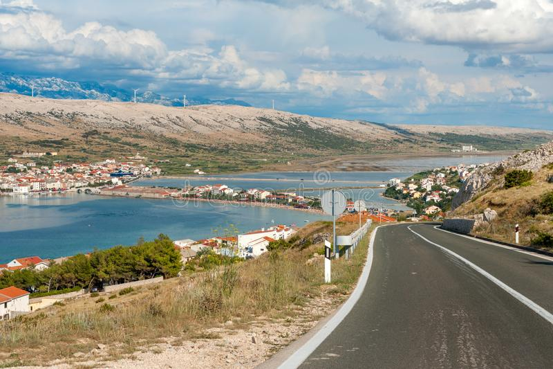 Vacation destination ahead stock image