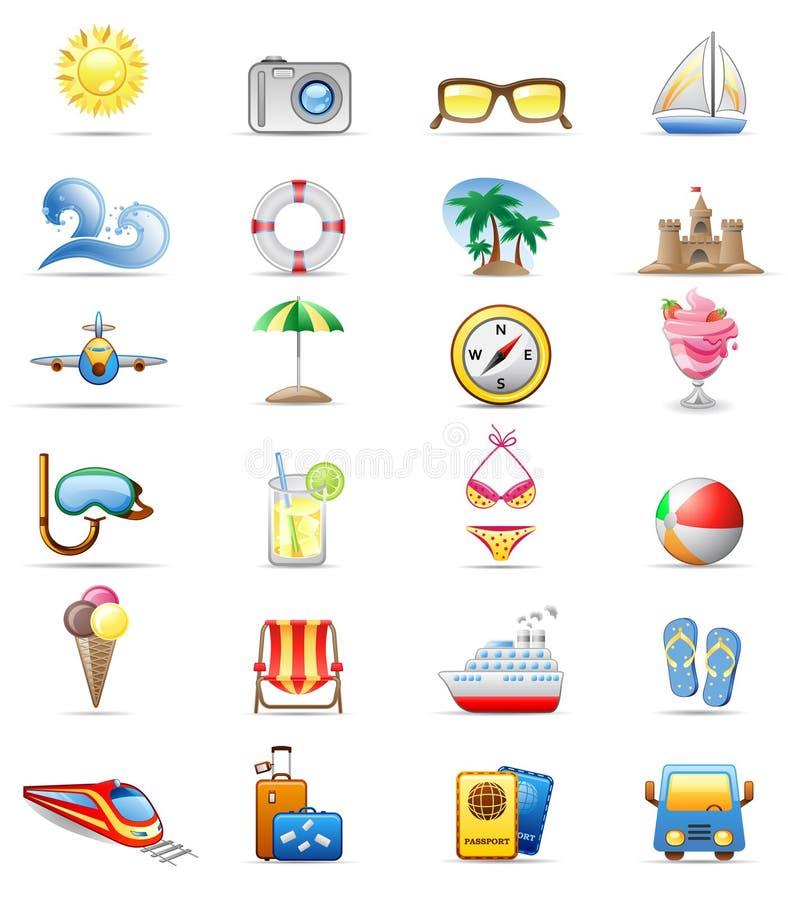 Free Vacation Icon Set. Royalty Free Stock Photo - 13313325
