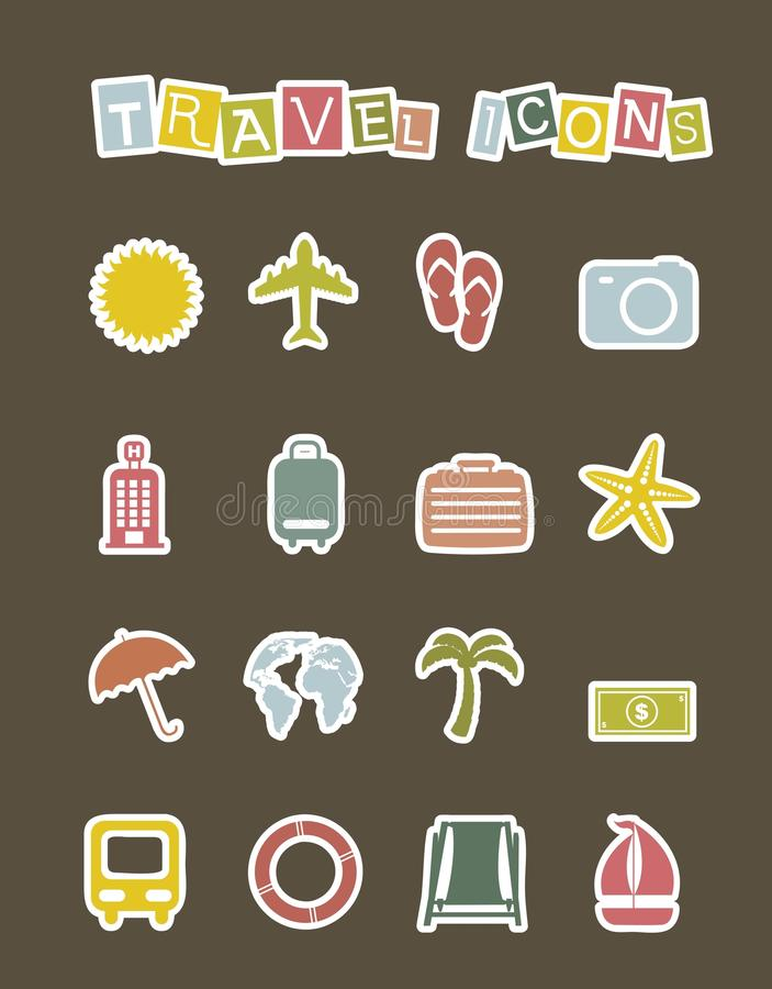 Download Vacation Icons Royalty Free Stock Image - Image: 27395546