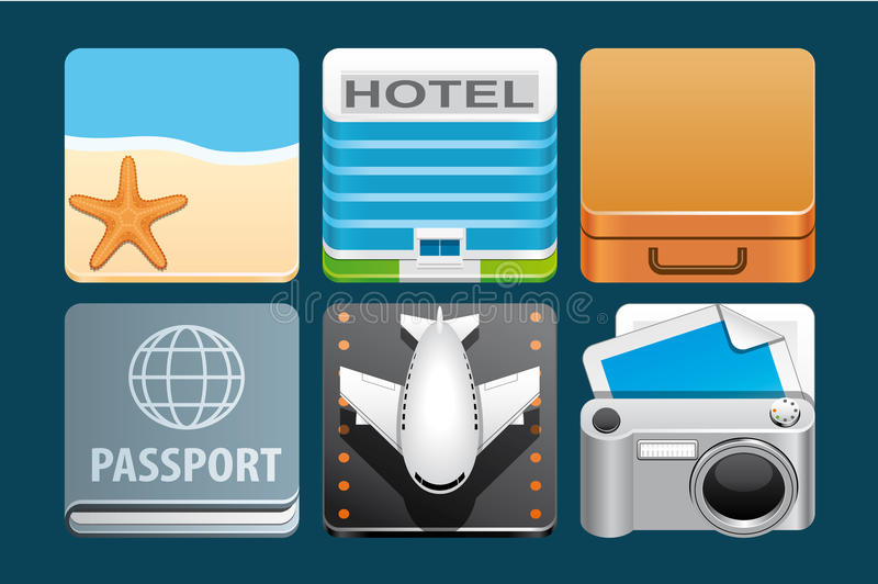 Download Vacation icons stock vector. Illustration of starfish - 31347610