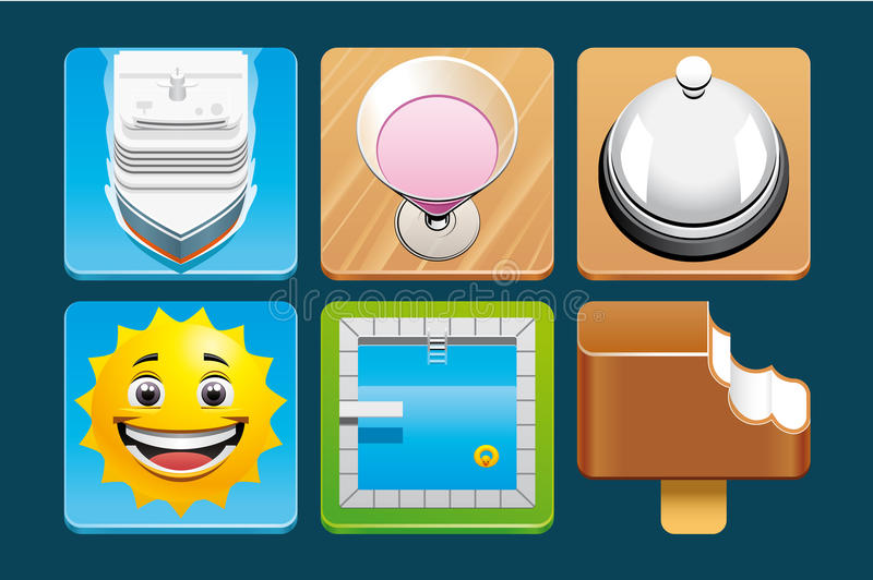 Download Vacation icons stock vector. Image of vacation, reception - 32058769