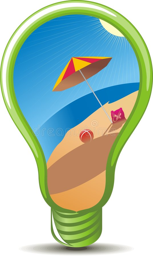 Download Vacation idea stock vector. Image of blue, beach, tropical - 8858227