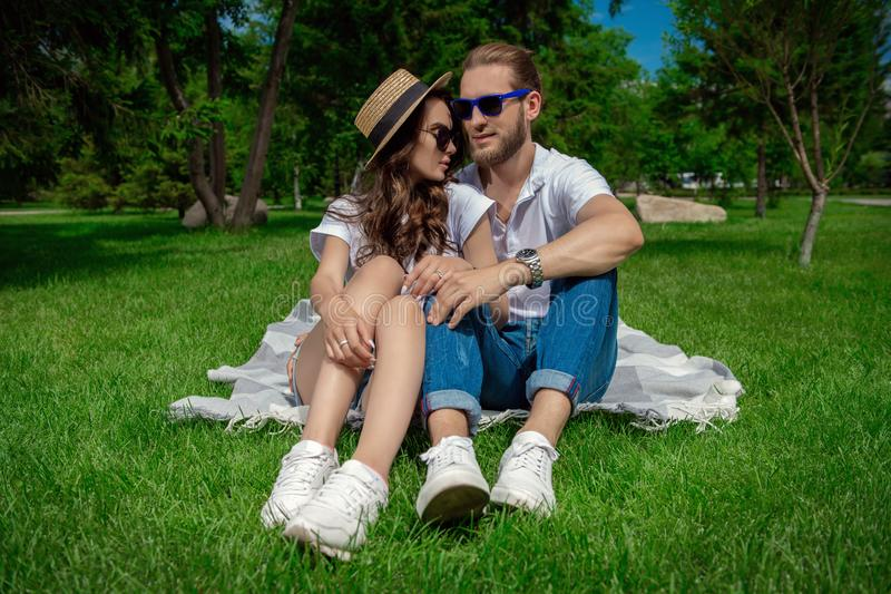 Vacation loving couple royalty free stock images