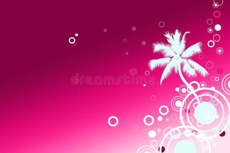 Vacation Palm Beach Background Stock Images