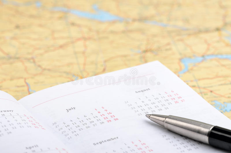 Vacation planning stock images