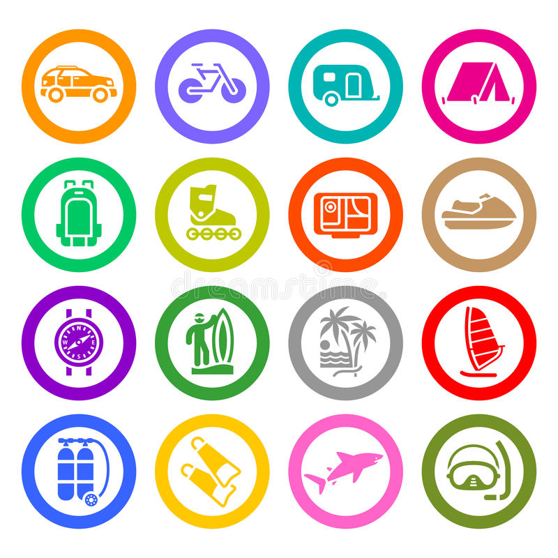 Download Vacation, Recreation & Travel, Icons Set Stock Vector - Image: 28985797