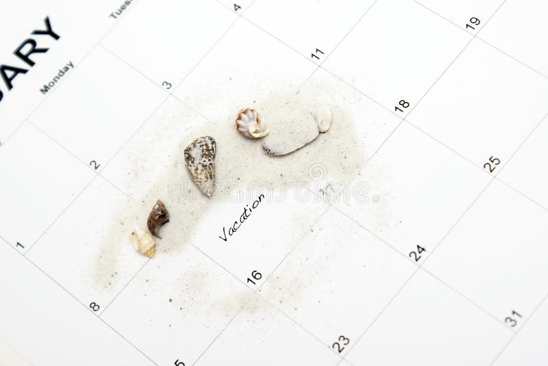 Vacation Reminder stock images