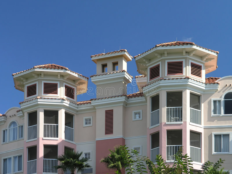 Vacation Resort Building Towers 3 Stock Photos