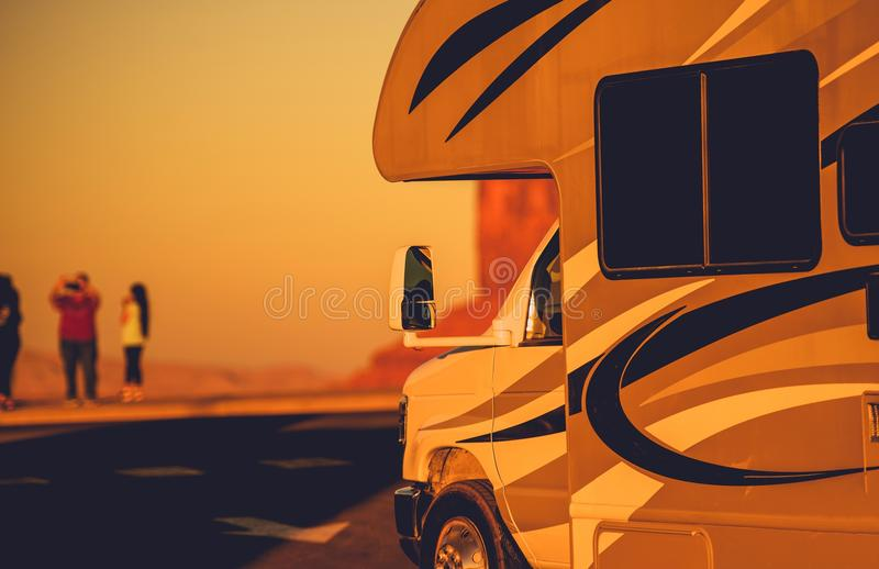 Vacation in RV Motorhome royalty free stock photo