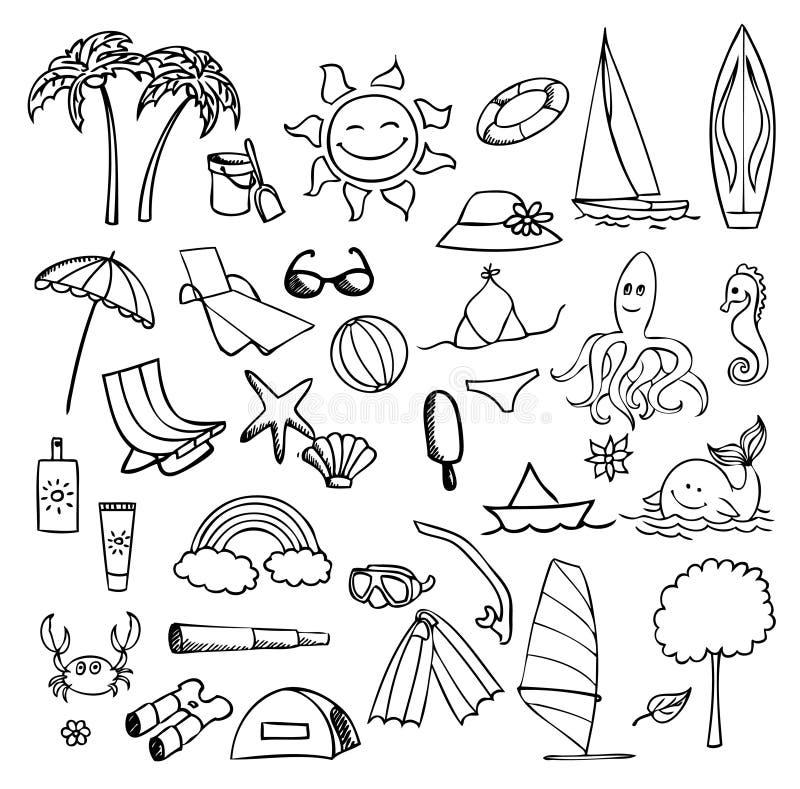 Download Vacation on sea vector set stock vector. Illustration of ocean - 20309691