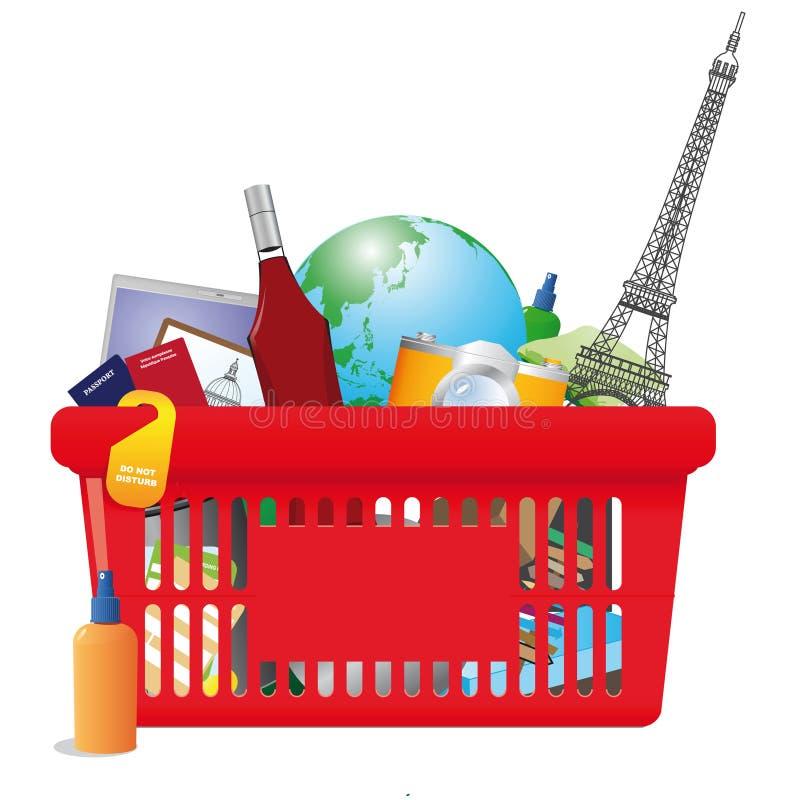 Vacation shopping cart