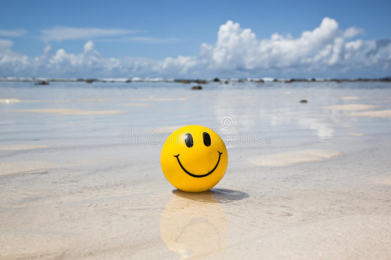 Vacation smile stock photography