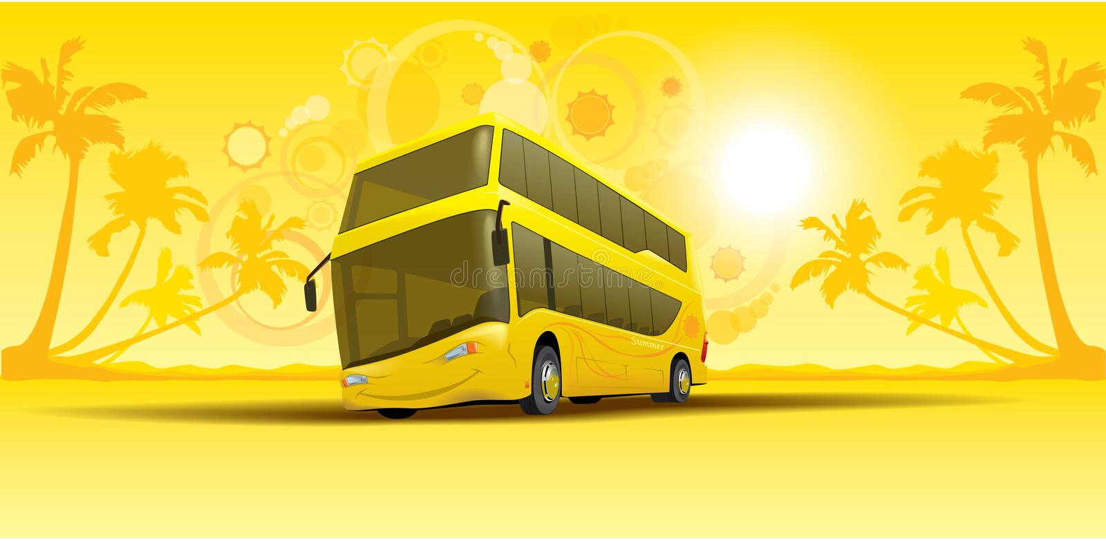 Download Vacation summer bus stock vector. Illustration of background - 11626814