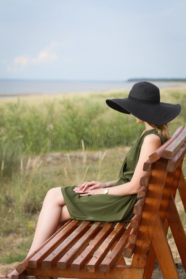 Vacation, Sunlounger, Outdoor Furniture, Sitting royalty free stock images