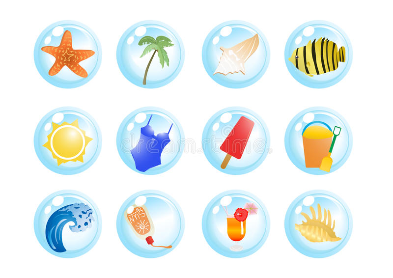 Vacation Symbols Royalty Free Stock Image