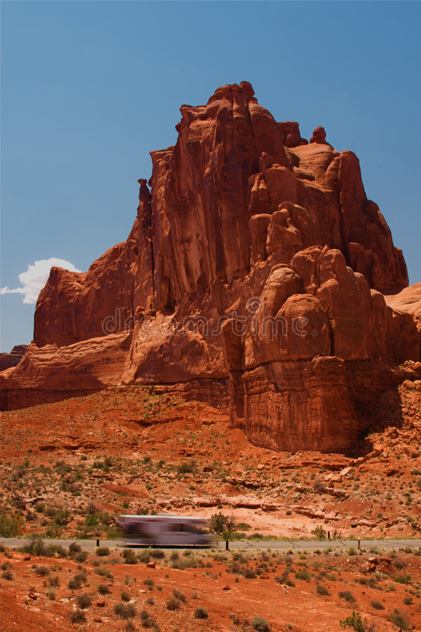 Vacation Travel Arches NP stock photo