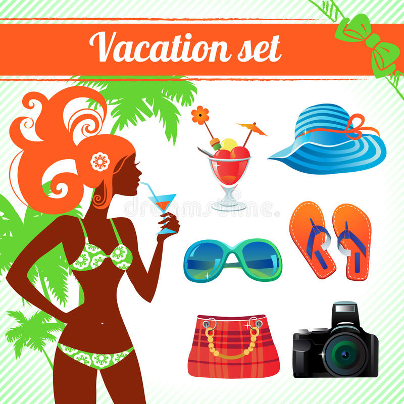 Download Vacation And Travel Icon Set Stock Vector - Image: 35861734