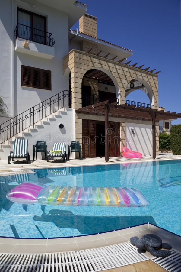 Download Vacation Villa with pool stock photo. Image of exterior - 16021096