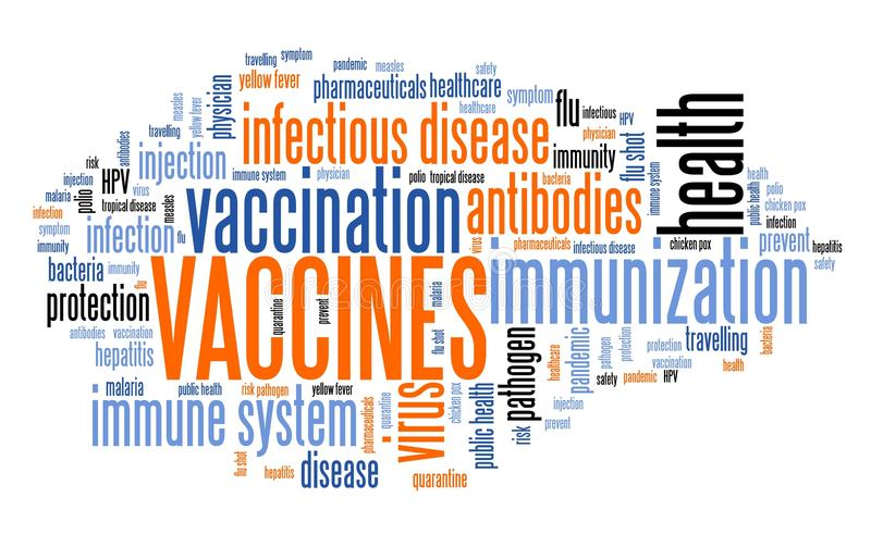 vaccin stock illustrationer