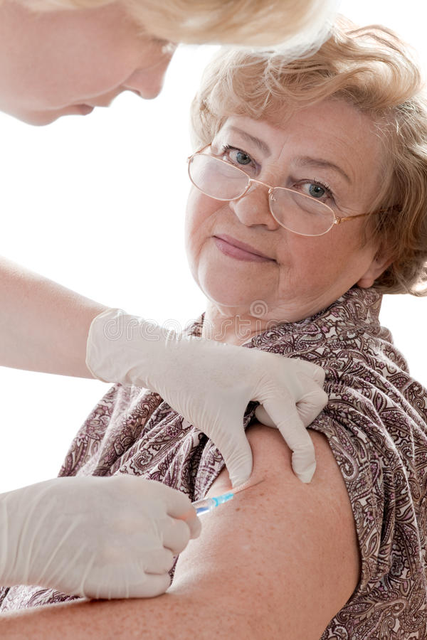 Vaccin contre la grippe de porcs photo stock