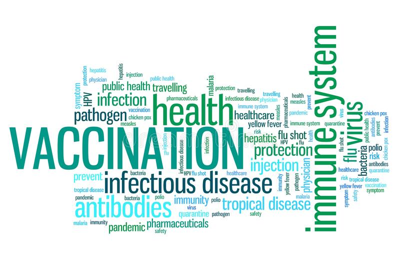 Vaccinations royalty free illustration