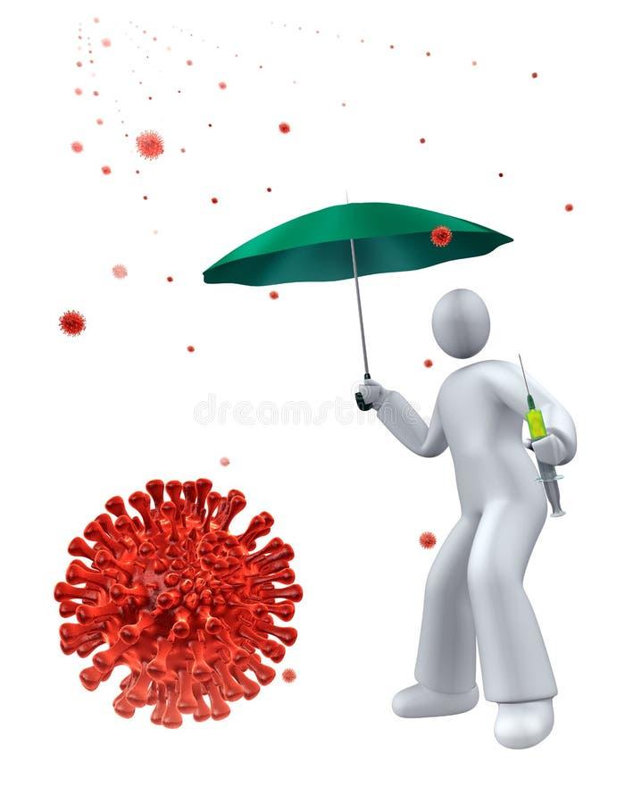 Vaccine against virus stock image