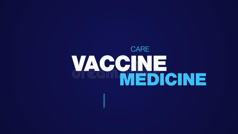 Vaccine medicine medical virus chemistry test laboratory infection hospital medication doctor animated word cloud. Background in uhd 4k 3840 2160 royalty free stock photos