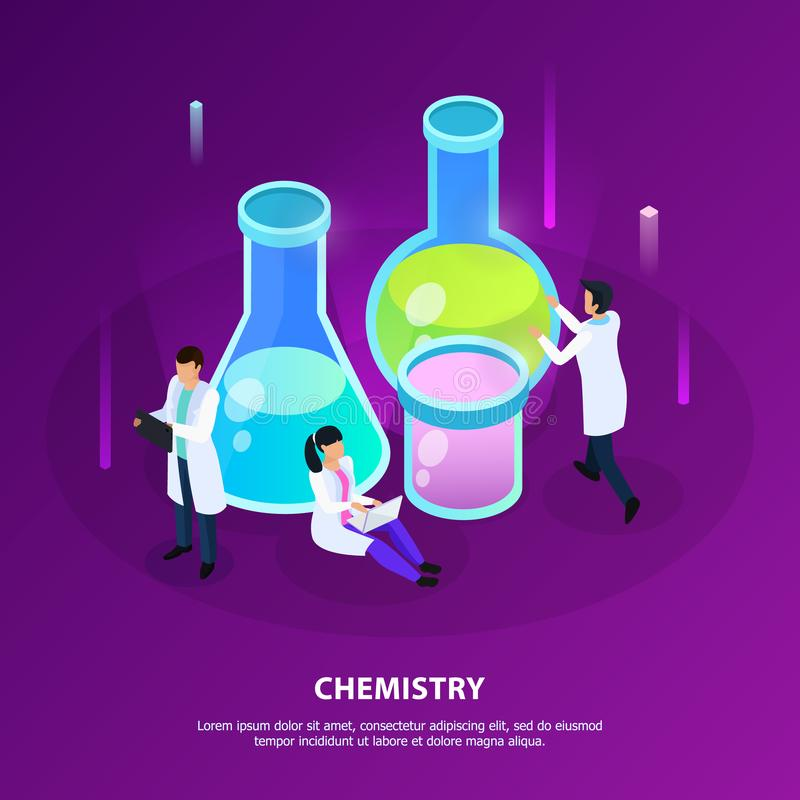 Vaccines Development Chemistry Isometric Illustration vector illustration