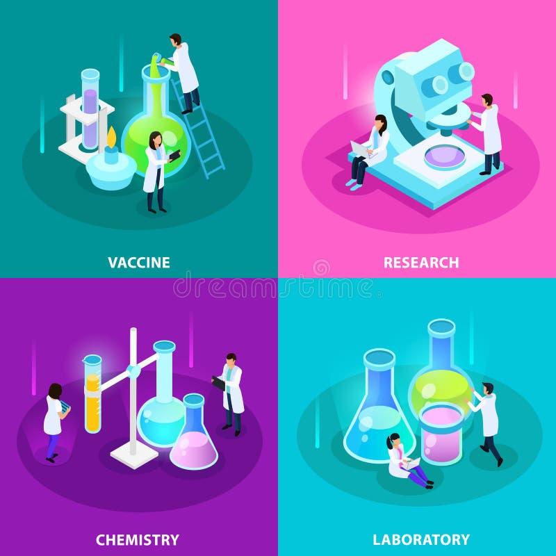 Vaccines Development Isometric Design Concept stock illustration