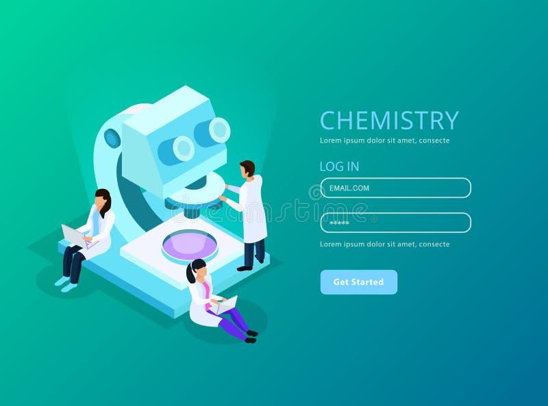 Vaccines Development Isometric Web Composition royalty free illustration