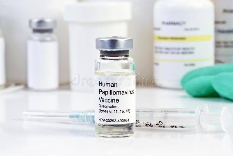 Vaccino di HPV fotografie stock