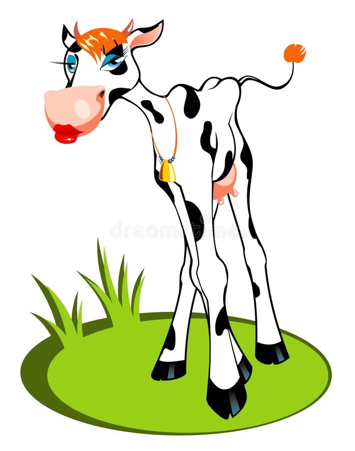 Vache à charme illustration stock