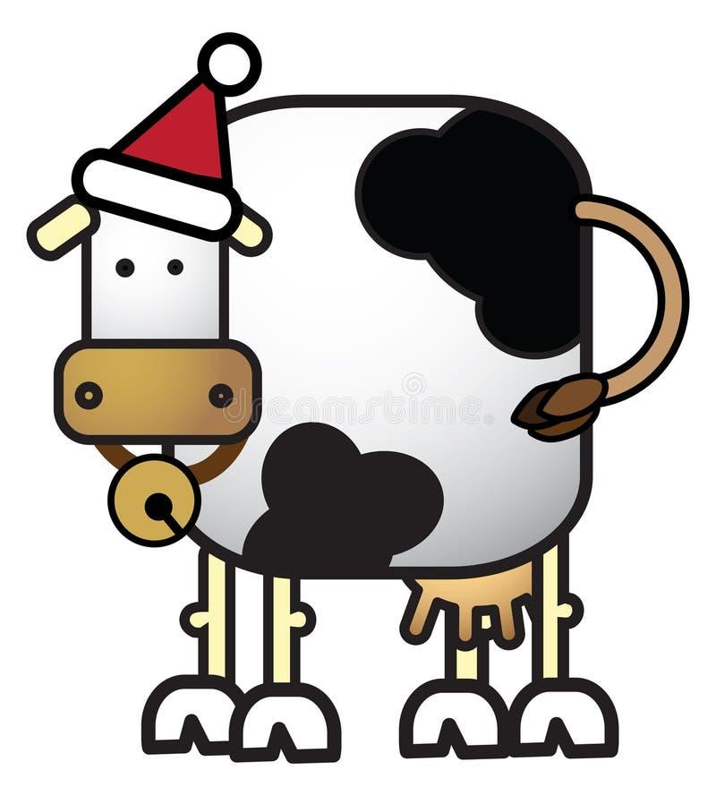 Vache à Noël illustration stock