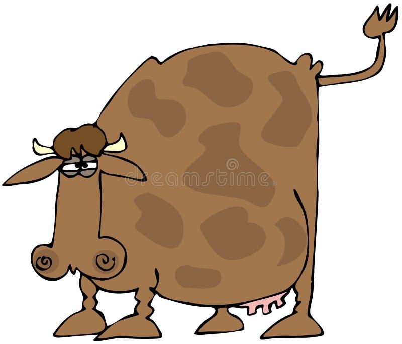 Vache avec un arrière augmenté illustration stock