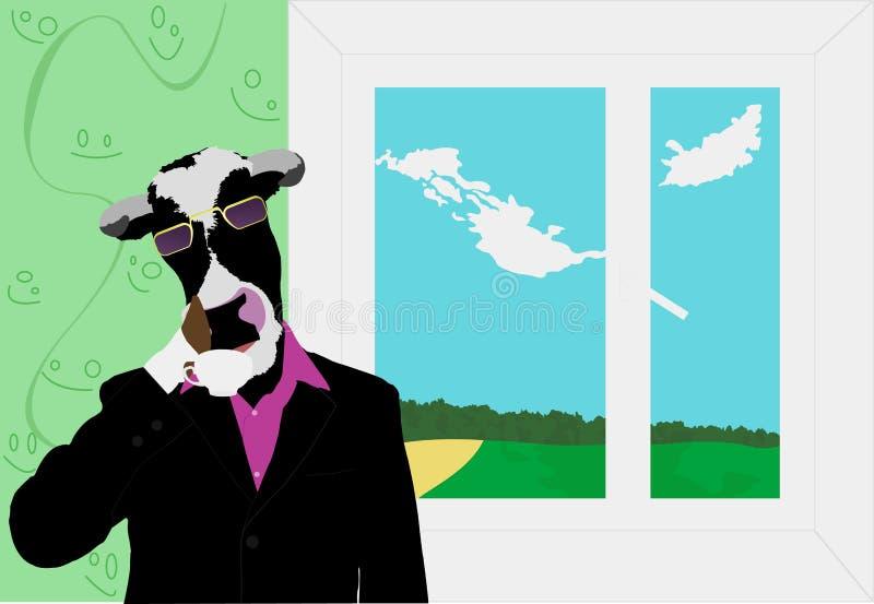 Vache-bossage illustration libre de droits