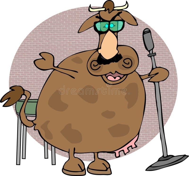 Vache comique illustration libre de droits