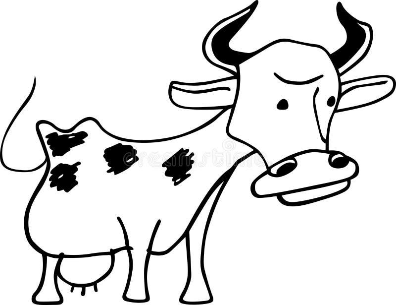 Vache drôle illustration libre de droits