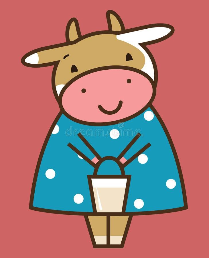 Vache drôle illustration stock