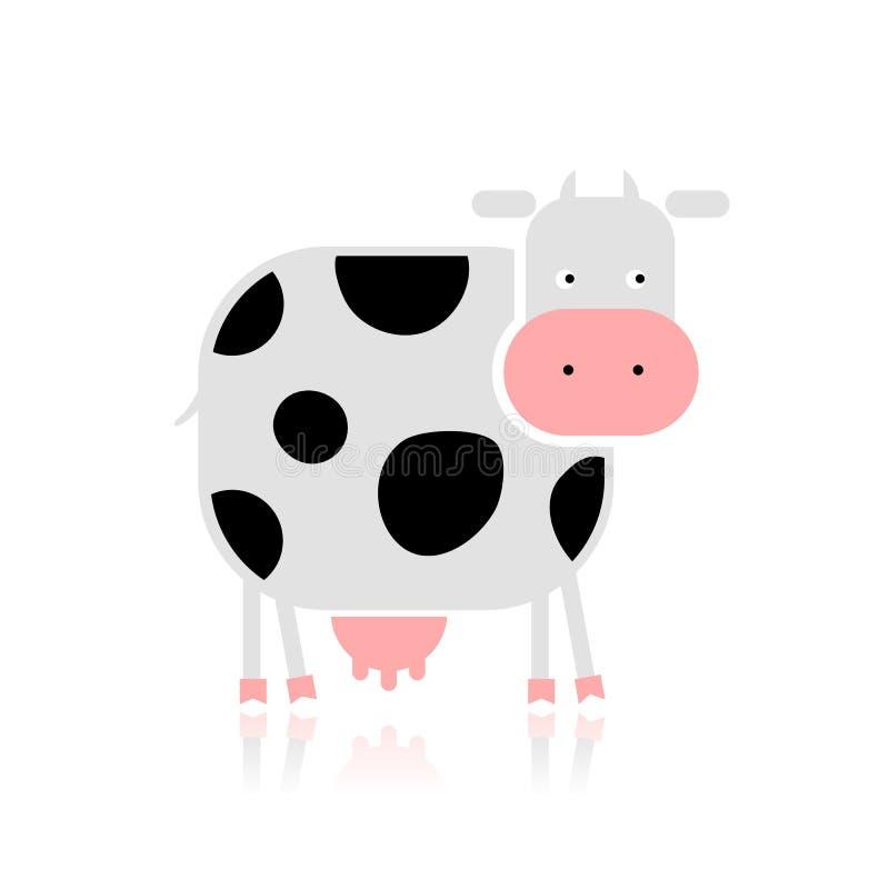 Vache drôle pour votre conception illustration stock