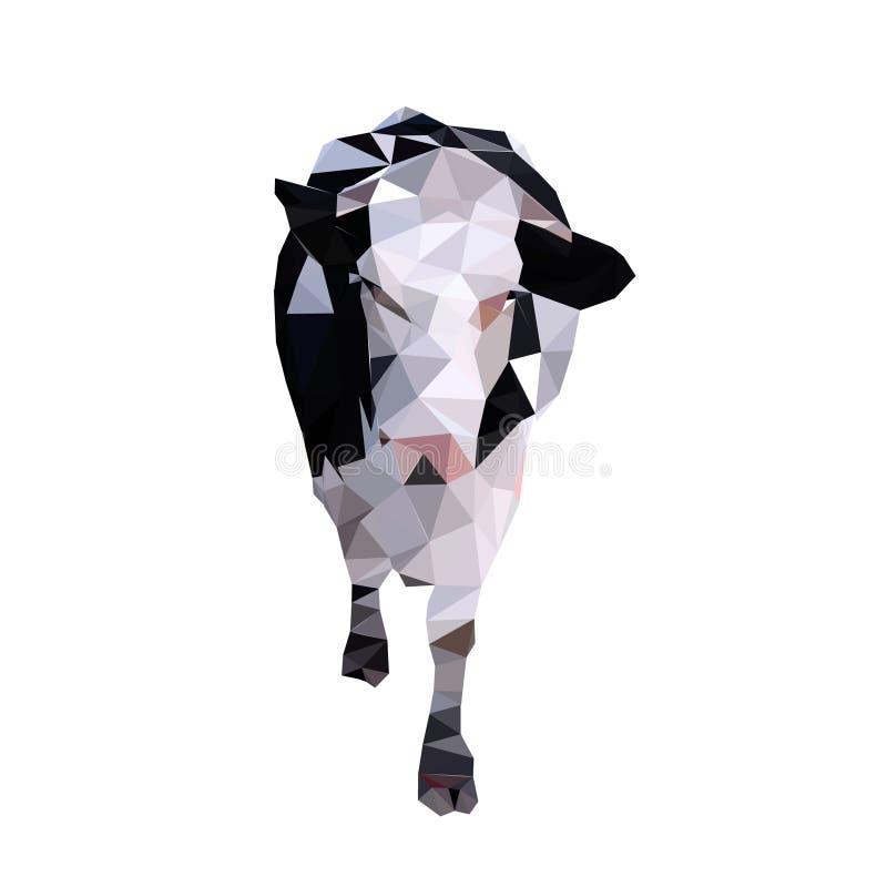 Vache polygonale image stock