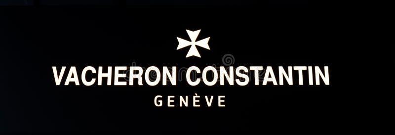 Vacheron Constantin. Zurich, Switzerland - August 14 2019: The Vacheron Constantin logo outside one of their store in Bahnhofstrasse street royalty free stock image
