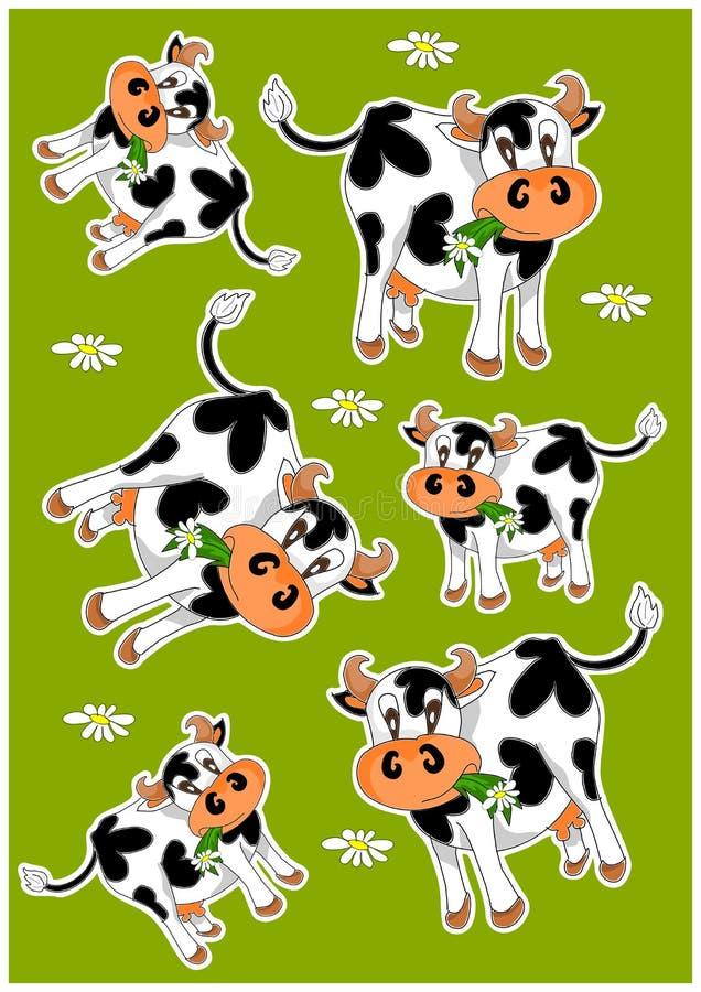 Vaches folles illustration de vecteur