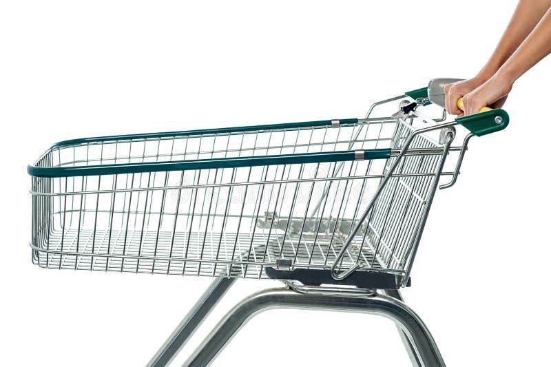 Vacie el carro de la compra, añada al carro imágenes de archivo libres de regalías