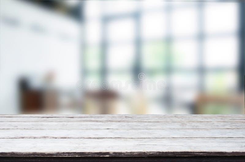 Vacie el fondo de madera de la decoración interior de la tabla y del sitio, golpecito foto de archivo libre de regalías