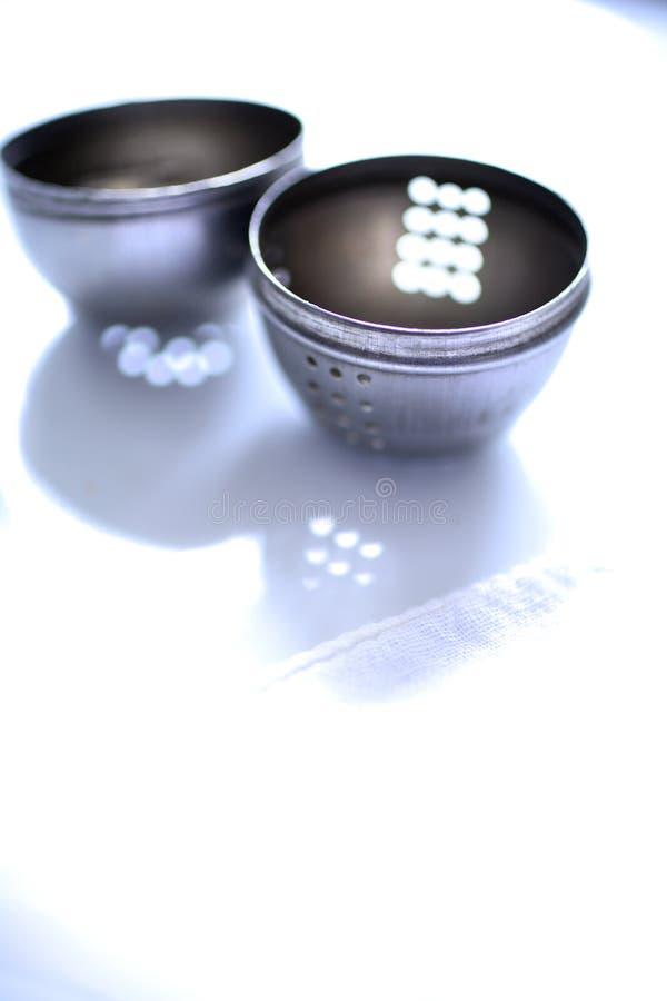 Vacie el infuser abierto del té foto de archivo libre de regalías