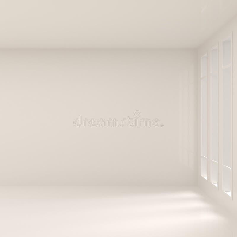 Vacie el interior ancho con Windows ilustración del vector