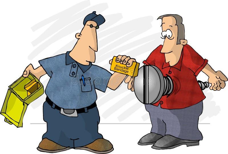 Vacie el kit de primeros auxilios stock de ilustración