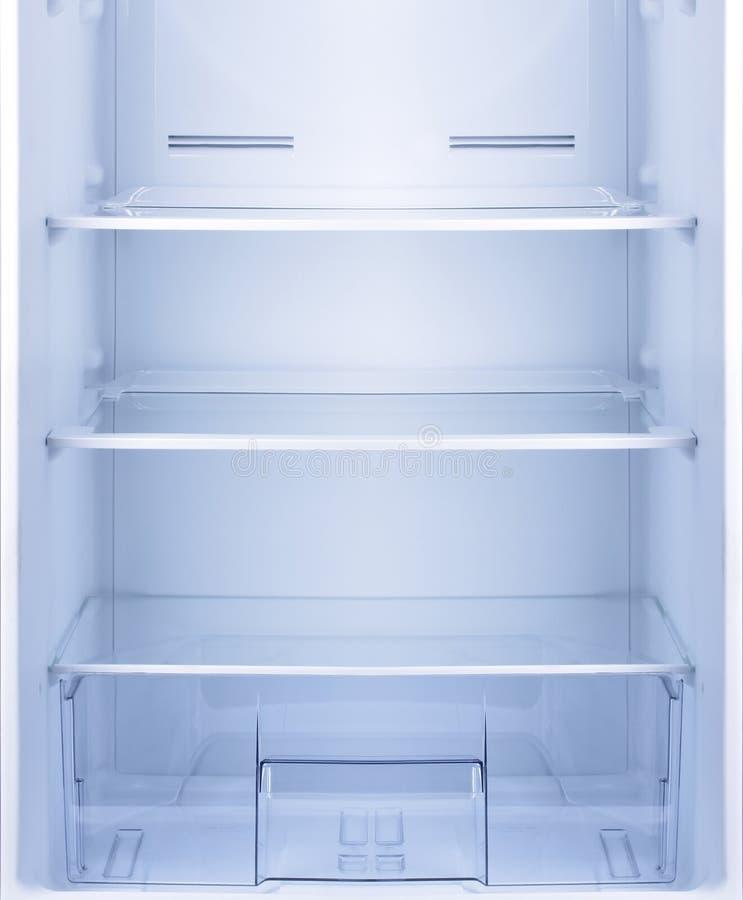 Vacie el refrigerador abierto imagen de archivo libre de regalías